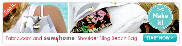 Sew4home Shoulder Sling Beach Bag
